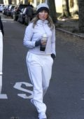 Jennifer Lopez in workout clothes on the 'Second Act' movie set in Queens, New York