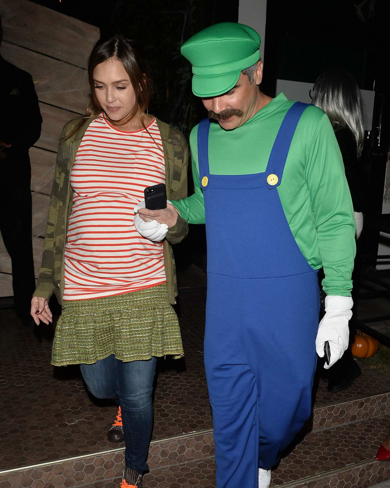Jessica Alba and husband Cash Warren seen leaving Poppy night club in West Hollywood, Los Angeles