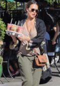Jessica Alba grabs a few bobas from Urth Caffe in West Hollywood, Los Angeles