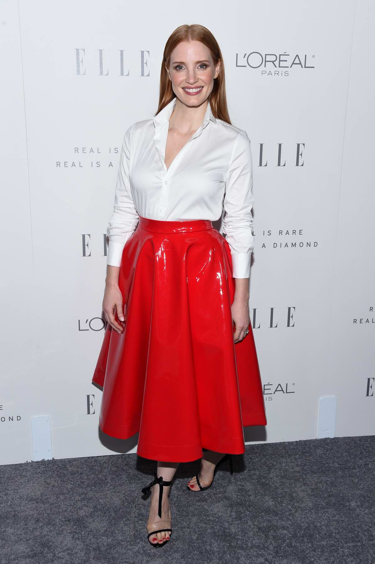 Jessica Chastain at the Elle's 24th Annual Women in Hollywood Celebration in Los Angeles