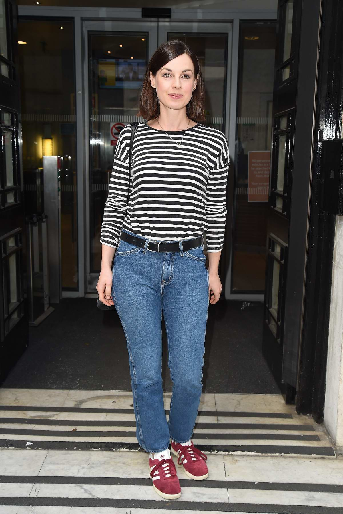 Jessica Raine seen arriving at BBC Radio 2 in London