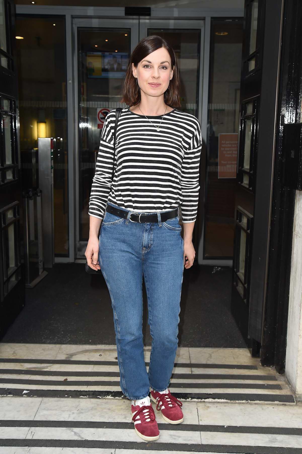 Jessica Raine seen arriving at BBC Radio 2 in London