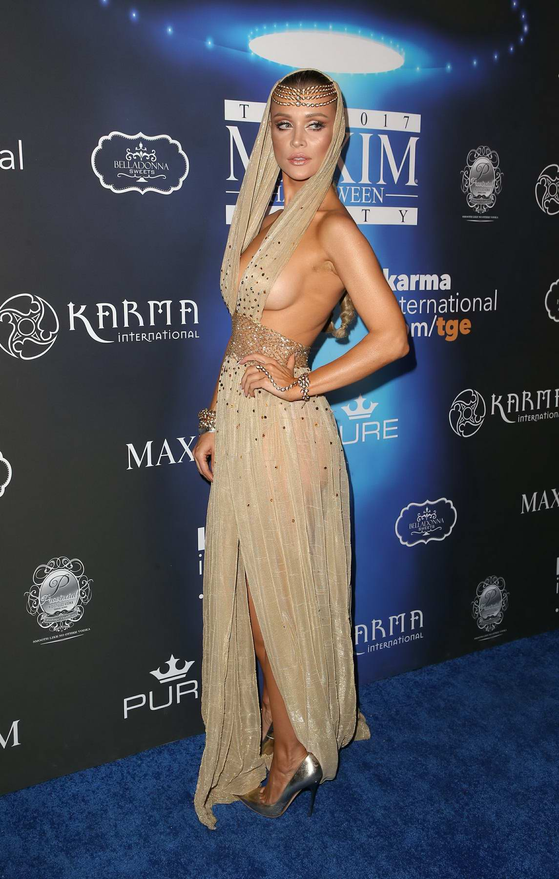 Joanna Krupa at the 2017 Maxim Halloween party in Los Angeles