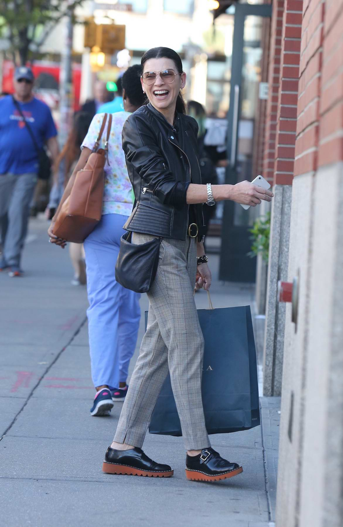 Julianna Margulies out for shopping in Soho, New York City