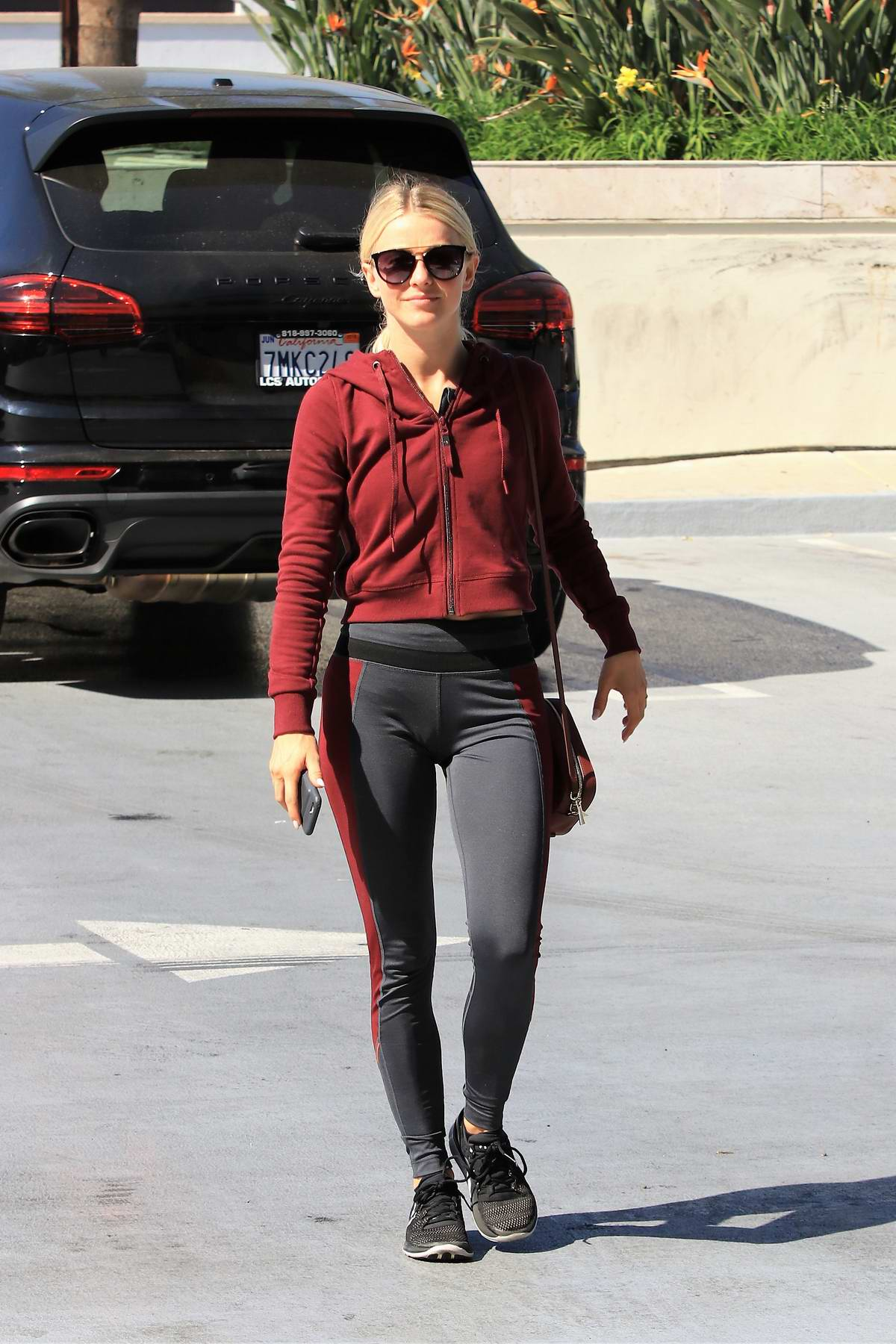 Julianne Hough visits a salon in Studio City, Los Angeles