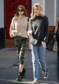 Kaia Gerber and Cayley King grab coffee at La Colombe in New York