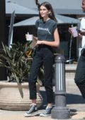 Kaia Gerber grabs Froyo on a warm day with friends in Malibu, California