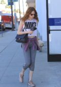 Karen Gillan heads to the gym in Beverly Hills, Los Angeles