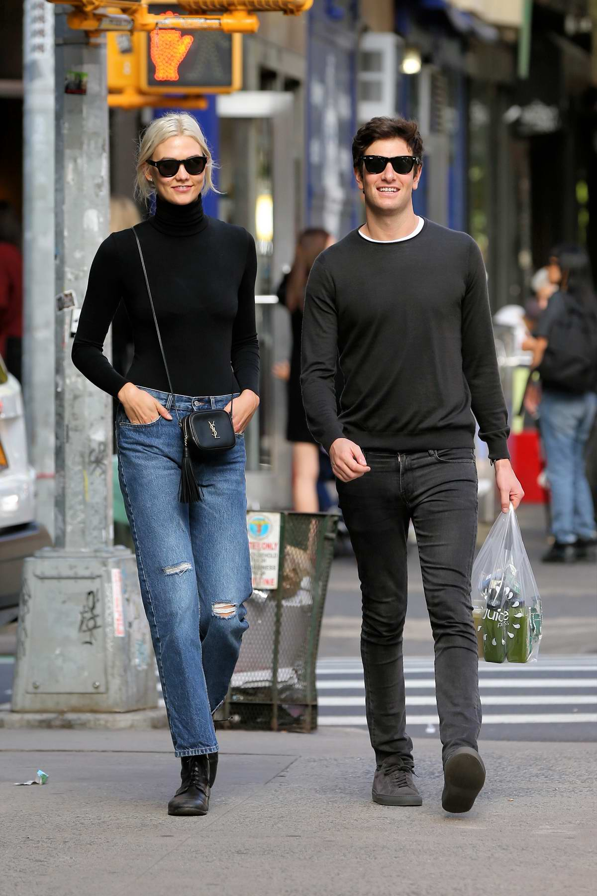 Karlie Kloss walks home with boyfriend Joshua Kushner in West Village, New York City