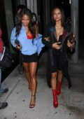 Karrueche Tran and Christina Milian heading to Catch LA for dinner in West Hollywood, Los Angeles
