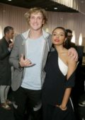 Kat graham and Logan Paul at the premiere of Where's the Money at Arclight Culver City in Los Angeles