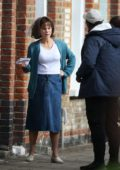Kate Beckinsale was spotted filming an intense scene for 'Farming' in East London