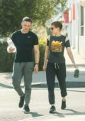 Kate Mara and husband Jamie Bell were spotted leaving the Boxing Gym in Los Angeles