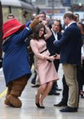 Kate Middleton at the Paddington Train Station in London