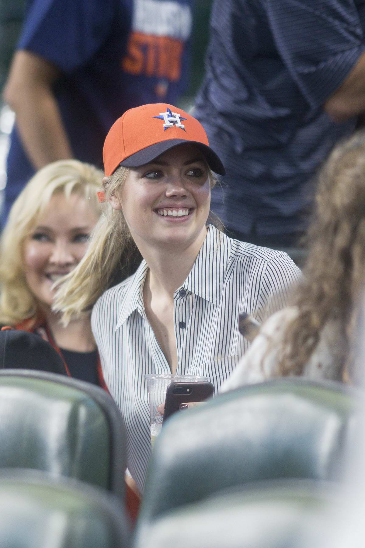 Kate Upton at a baseball game in Maid Park in Texas