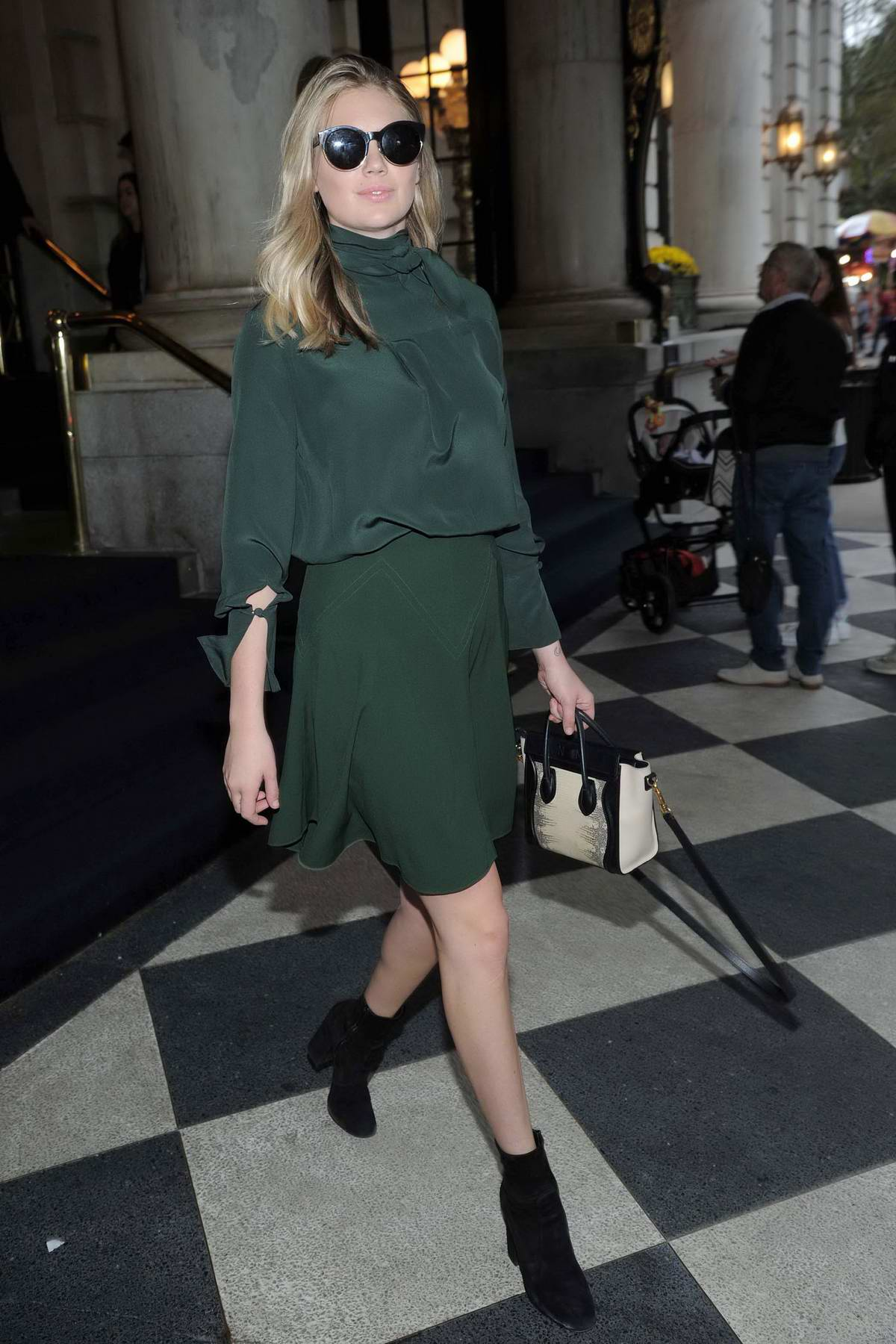 Kate Upton leaving The Plaza Hotel after enjoying treatments at the new Guerlain spa in New York