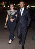Kate Winslet and Ned Rocknroll are seen after a screening of Wonder Wheel during New York Film Festival in New York City