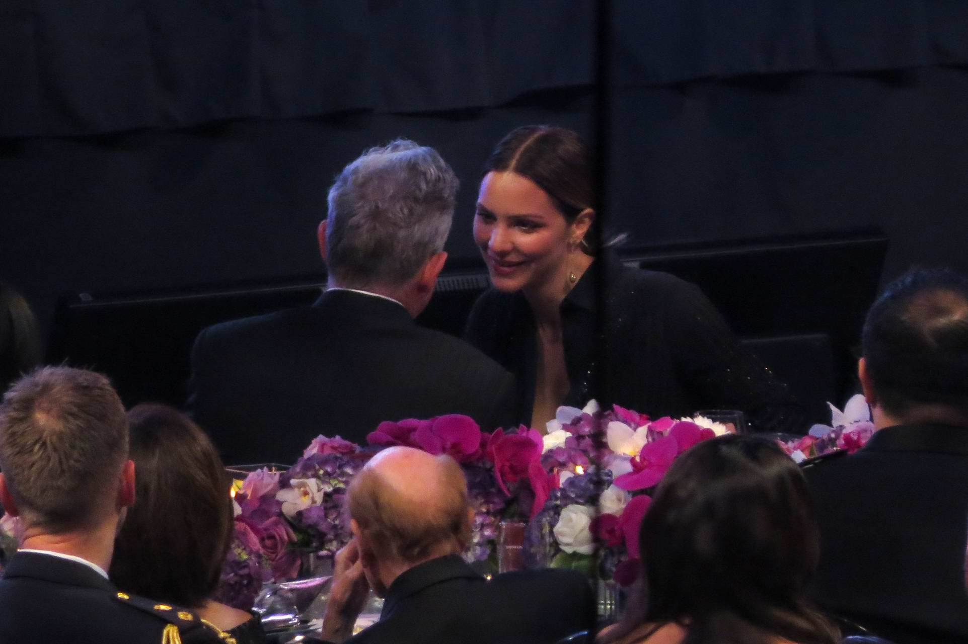 Katharine McPhee and David Foster appear intimate during The David Foster Foundation Miracle Gala & Concert in Vancouver, Canada