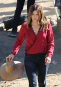 Katharine McPhee on the set of Scorpion in Los Angeles