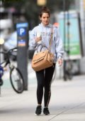 Katie Holmes out early morning for some coffee in New York City