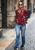 Katie Holmes was spotted taking a walk in Verona, Italy