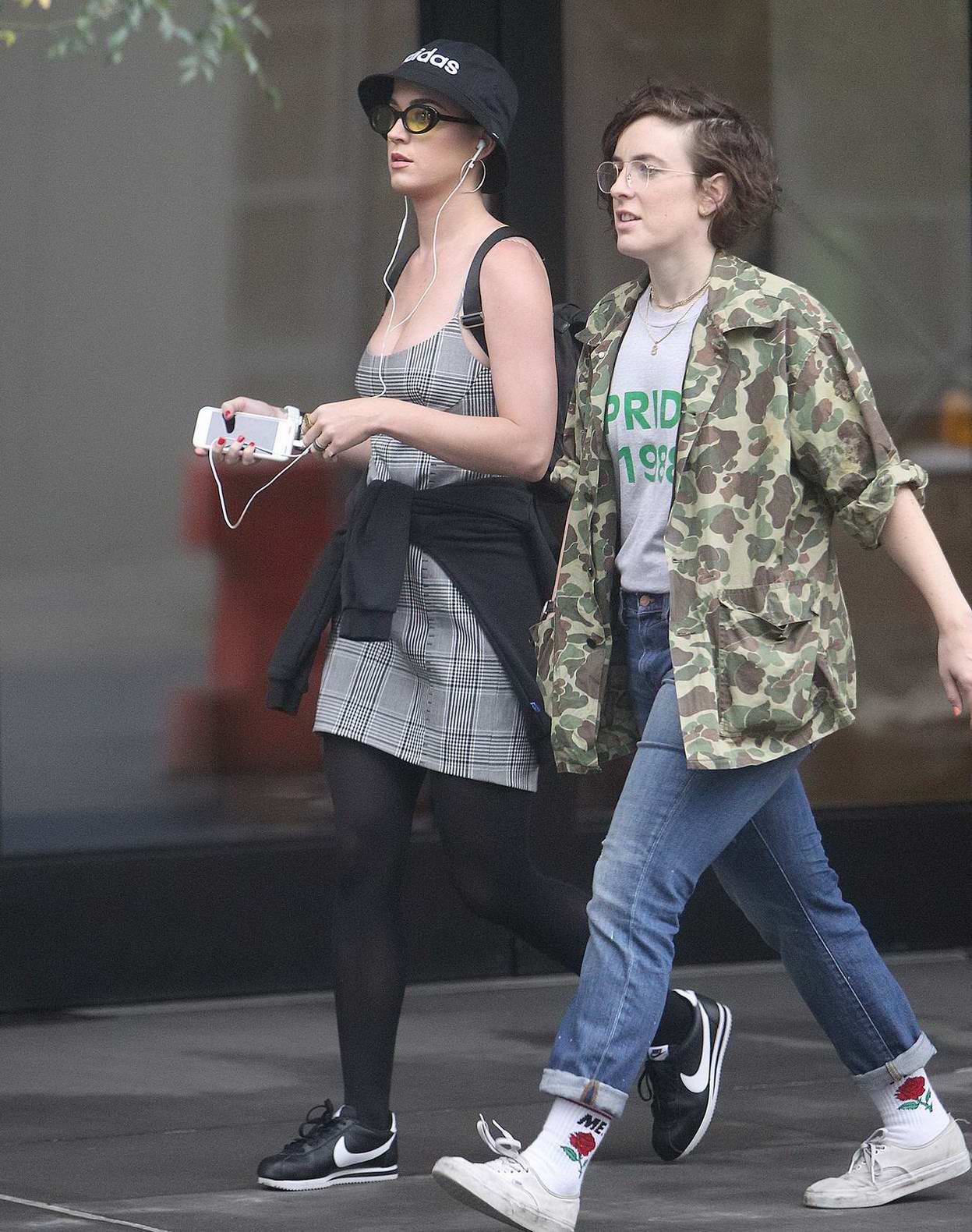 Katy Perry steps out for a stroll with a friend in New York City