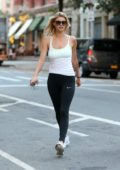 Kelly Rohrbach arriving at the untitled Woody Allen movie set in Madison Avenue, Manhattan, New York City