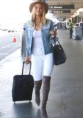 Kelly Rohrbach flies out of LAX Aiport, Los Angeles