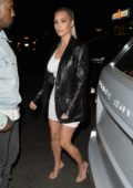 Kim Kardashian and Kanye West arrive to her 37th birthday party in Los Feliz, California