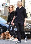 Kimberley Garner meeting up with her ex-boyfriend Richard Dinan at The Phene in Chelsea, UK