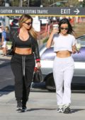 Kourtney Kardashian and Larsa Pippen make a coffee run to Alfred's Coffee in Beverly Hills, Los Angeles