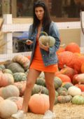 Kourtney Kardashian buy pumpkins for Halloween in Moorpark, California