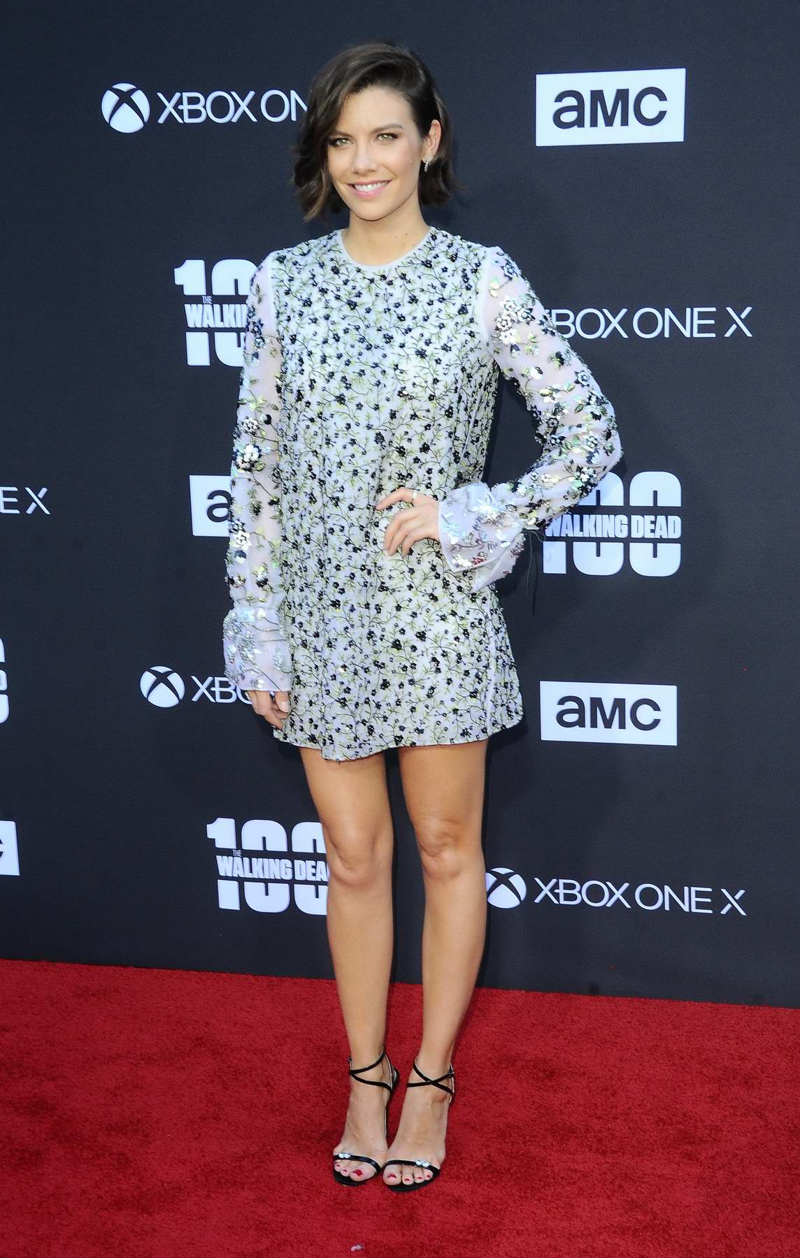 Lauren Cohan at The Walking Dead 100th episode premiere and party in Los Angeles