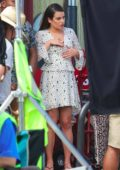 Lea Michele on the set of 'The Mayor' in Los Angeles