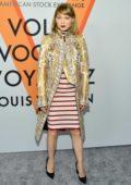 Lea Seydoux at Louis Vuitton 'Volez, Voguez, Voyagez' exhibition opening in New York