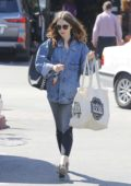Lily Collins gets some coffee and grocery in Beverly Hills, Los Angeles