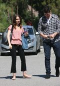 Lily Collins is out and about with a Mystery Man after lunch in Hollywood, Los Angeles