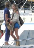 Lily James on the set of Mamma Mia! Here We Go Again in Croatia
