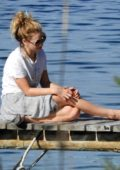 Lily James spotted enjoying some free time with the crew in Vis, Croatia