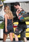 Lily James with boyfriend Matt Smith during a break from filming 'Mamma Mia 2' in Croatia