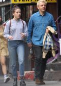 Lily Mo Sheen and her father Michael Sheen enjoying some quality time while out in Downtown Manhattan, New York