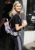 Lindsay Arnold is seen bringing Chick-Fil-A with her into the studio in Los Angeles
