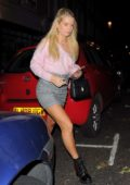 Lottie Moss out for dinner with friends in Chelsea, UK