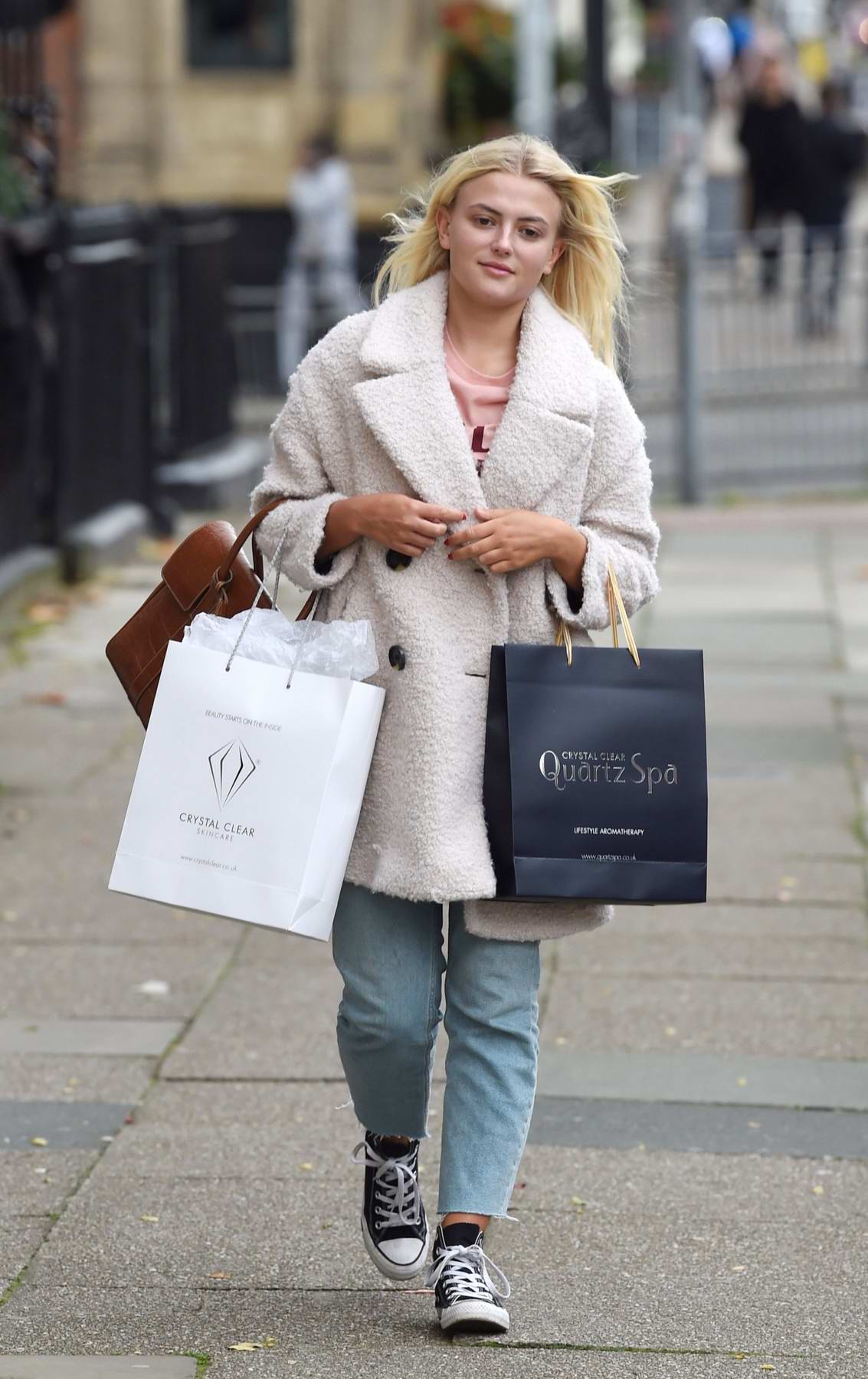 Lucy Fallon treats herself to a H20 Glow facial at Crystal Clear in Liverpool, UK