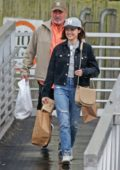 Lucy Hale out for shopping with her Dad in Vancouver, Canada