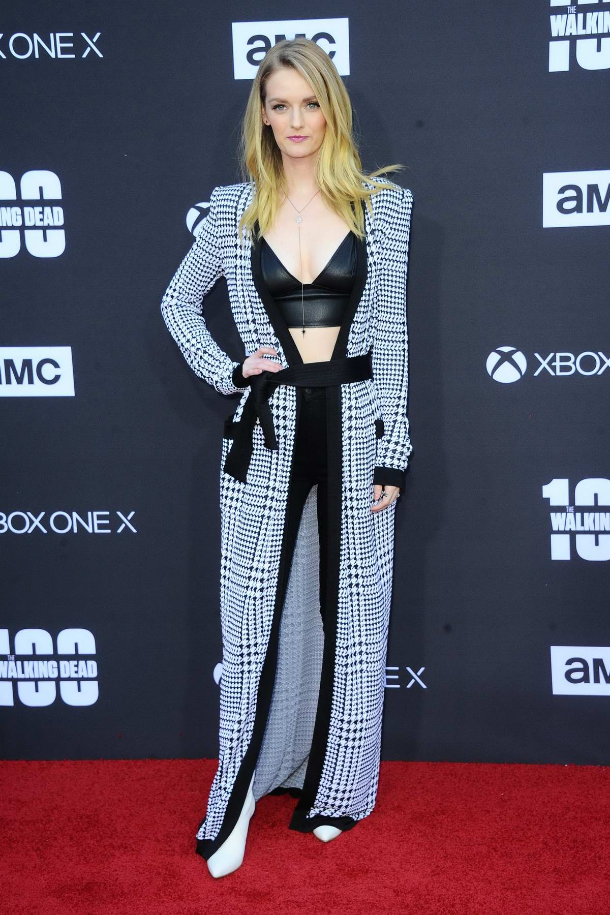 Lydia Hearst at The Walking Dead 100th episode premiere and party in Los Angeles