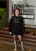 Maisie Williams at Thorpe Park Resort's fright nights 'The Walking Dead - Living Nightmare' attraction in Chertsey, UK