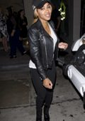 Meagan Good and husband Devon Franklin were seen leaving dinner at Catch restaurant in West Hollywood, Los Angeles