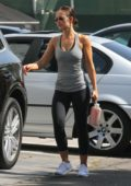 Minka Kelly leaving the gym a workout in Beverly Hills, Los Angeles