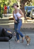 Minka Kelly seen taking her dogs to Posh Pet Care in West Hollywood, Los Angeles